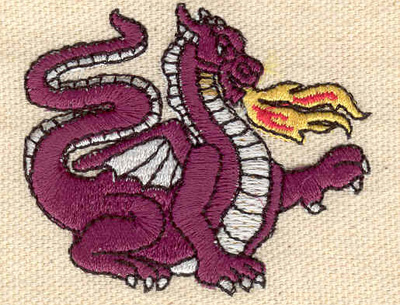 Embroidery Design: Dragon 2.26w X 1.89h