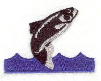 "Embroidery Design: Fish J 2.44""w X 1.80""h"