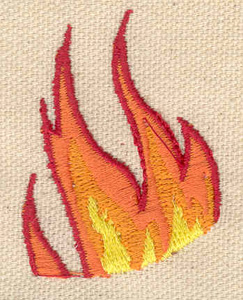 Embroidery Design: Flames 1.42w X 1.93h