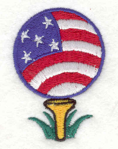 "Embroidery Design: American Golf Ball 1.58""w X 2.30""h"