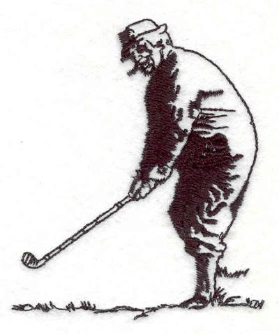"Embroidery Design: Golfer F 2.54""w X 3.02""h"