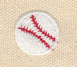 Embroidery Design: Baseball small 0.76w X 0.76h