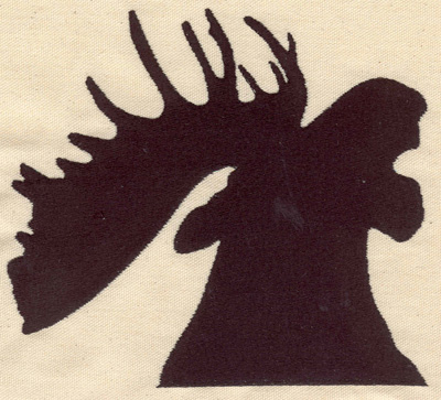 Embroidery Design: Moose head silhouette 7.02w X 6.20h