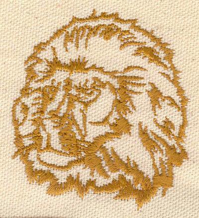 Embroidery Design: Lion head 2.25w X 2.48h
