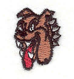 """Embroidery Design: Bulldog S1.02"""" x 0.77"""""""