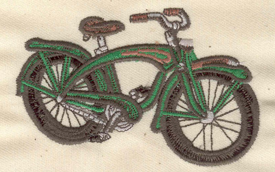 Embroidery Design: Bicycle 3.80w X 2.42h