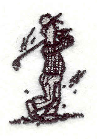 "Embroidery Design: Golfer G 1.22""w X 1.80""h"