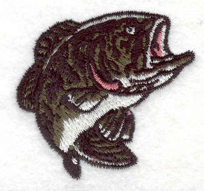 "Embroidery Design: Bass F 2.01""w X 1.98""h"