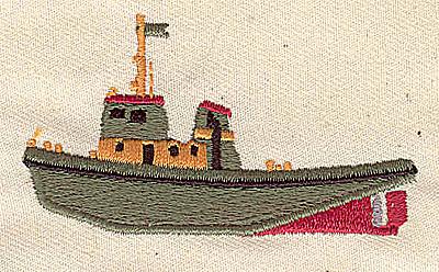 Embroidery Design: Tug boat 2.65w X 1.50h