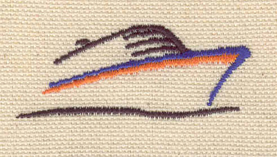 Embroidery Design: Ship 2.10w X 0.85h