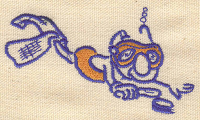 Embroidery Design: Cartoon diver 3.62w X 2.04h
