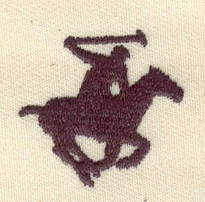 Embroidery Design: Polo player 1.17w X 1.14h