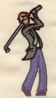 Embroidery Design: Golfer 1.60w X 3.24h
