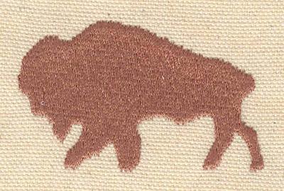 Embroidery Design: Buffalo 2.42w X 1.54h