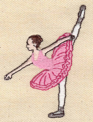 Embroidery Design: Ballerina 2.13w X 2.99h