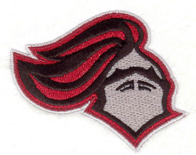"Embroidery Design: Knights Helmet  2.60"" x 3.22"""