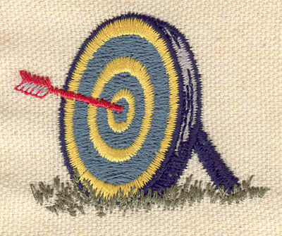 Embroidery Design: Archery target 2.04w X 1.65h