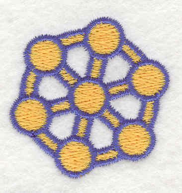 Embroidery Design: Atom 5 1.61w X 1.60h