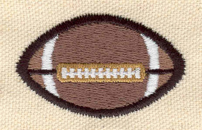 Embroidery Design: Football K 1.99w X 1.22h