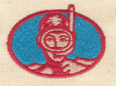 Embroidery Design: Snorkeler 2.12w X 1.57h