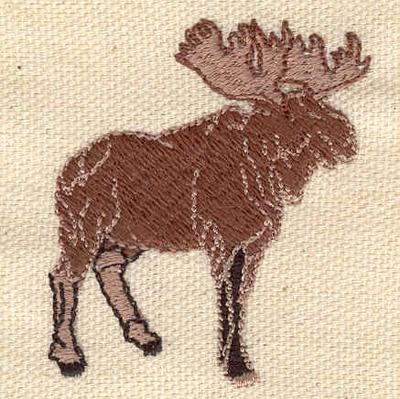 Embroidery Design: Moose 1.75w X 1.98h