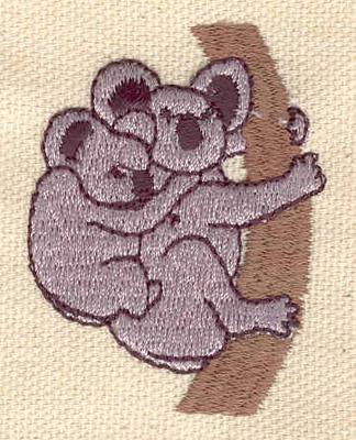 Embroidery Design: Koala bear with baby 1.49w X 1.99h