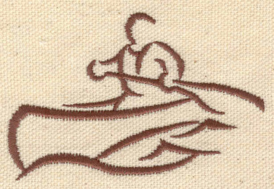 Embroidery Design: Canoeing 2.92w X 1.91h