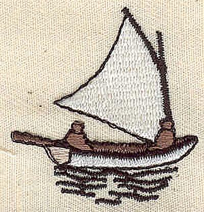 Embroidery Design: Sailboat 1.43w X 1.50h