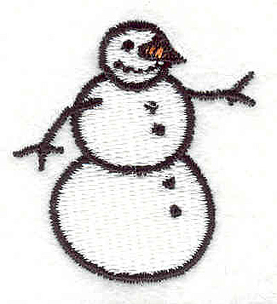 "Embroidery Design: Snowman 1.42""w X 1.55""h"