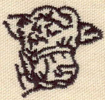 Embroidery Design: Cow head 1.61w X 1.49h