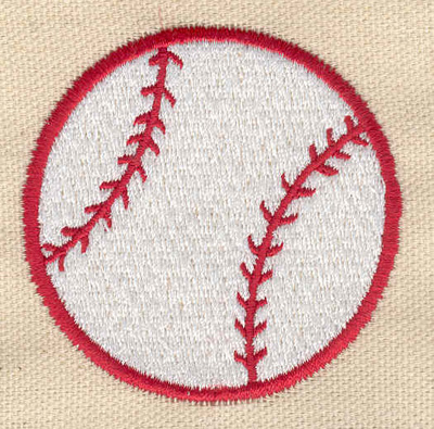 Embroidery Design: Baseball large 2.32w X 2.33h