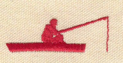 Embroidery Design: Fisherman in boat 2.01w X 0.73h