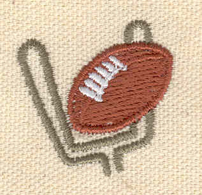 Embroidery Design: Football and goal post 1.24w X 1.22h