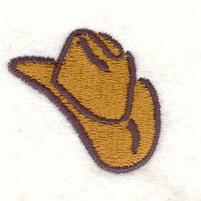 "Embroidery Design: Cowboy hat1.16""H x 1.28""W"