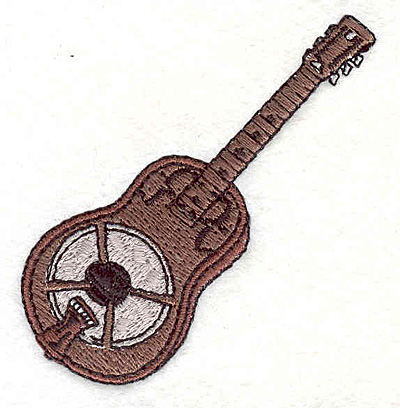 """Embroidery Design: Guitar 2 2.67"""" X 2.49"""""""