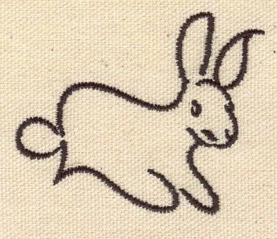 Embroidery Design: Rabbit bunny 2.49w X 1.99h