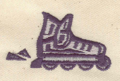 Embroidery Design: Roller Blades 2.04w X 1.15h