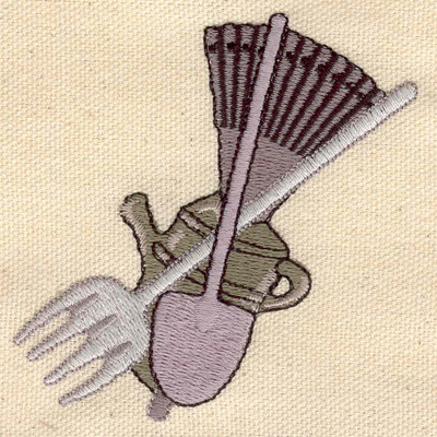 Embroidery Design: Farmers tools 3.04w X 3.10h
