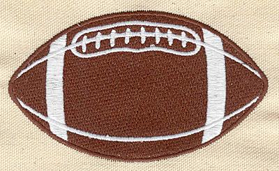 Embroidery Design: Football L 2.64w X 4.50h