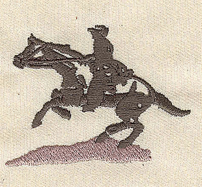 Embroidery Design: Western horse and rider2.17in. H x 1.73in. W