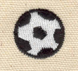 Embroidery Design: Soccer ball 0.86w X 0.86h