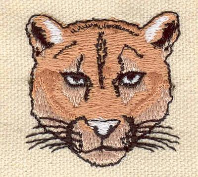 Embroidery Design: Cougar head 1.56w X 1.57h