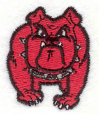 """Embroidery Design: Bulldog T1.37"""" x 1.70"""""""