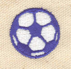 Embroidery Design: Soccer ball 1.06w X 1.06h