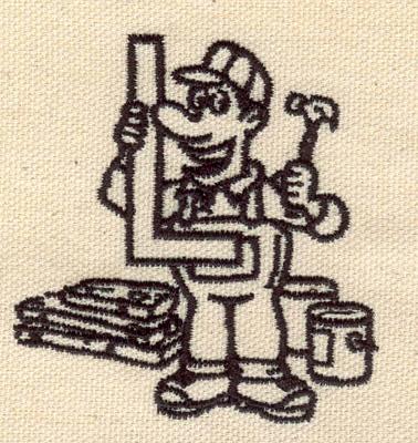 Embroidery Design: Carpenter 2.61w X 2.43h