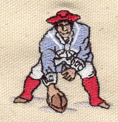 Embroidery Design: Football Player patriot 1.63w X 1.68h