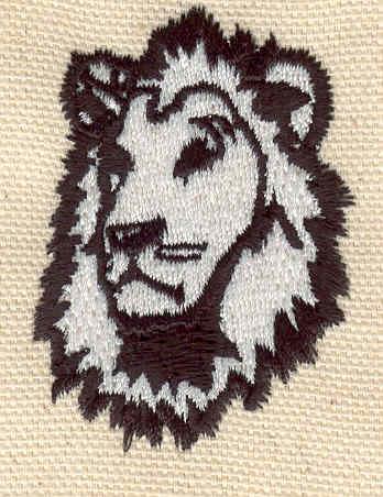 Embroidery Design: Lion head 2.07w X 1.48h