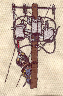 Embroidery Design: Lineman 3.22w X 2.03h