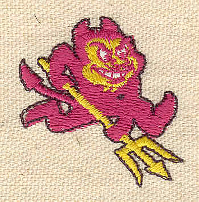 Embroidery Design: Devil D 1.46w X 1.54h