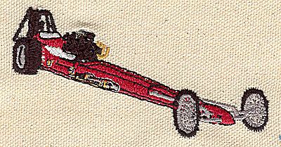 Embroidery Design: Dragster 1.78w X 3.78h
